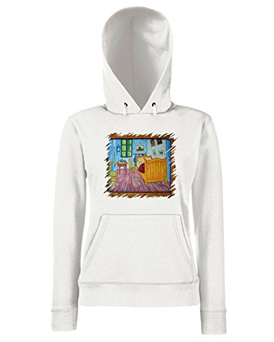 T-Shirtshock - Sweats a capuche Femme TDA0075 van gogh27 camera da letto Blanc