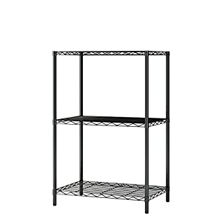 Home-Like 3 Tier Wire Storage Rack Wire Shelving Unit Multi Purpose Shelf Storage Modern Storage Organization Rack Suitable For Kitchen Home Office Kitchen 53.5x35x81.5cm (3 Tier, Black)