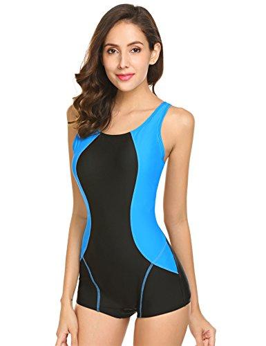 Damen badeanzüge sport swimwear Einteiliger Schwimmanzug schwarz  Schlankheits Badeanzug rückenfrei monokini große größen Bademode mit  Gekreuzte 15279e94a1