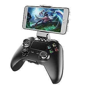OOFAY PG – 9069 Wireless Controller Bluetooth-Spiel-Prüfer Mit Notenauflage Stützt Schwarz Steuerknüppel Für Android- / IOS- / Fenster-System