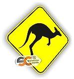 Sticker Kangourou Australien Autocollant Surfing Australie