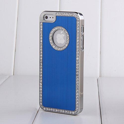 Qualité qualité luxe Bling iPhone 6 qualité Strass Cristal Diamant Bling Rigide Shell Housse Coque Étui Glitter (bleu) pour iPhone 6