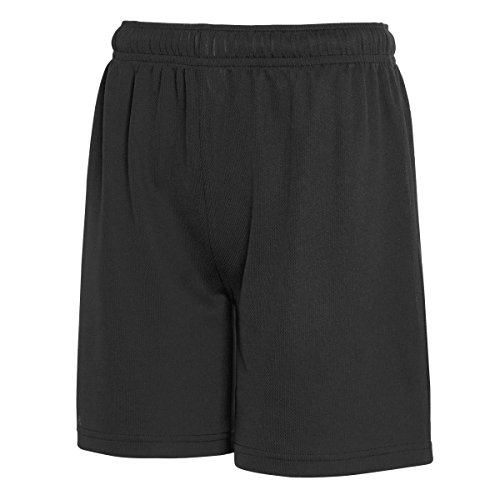 Fruit Of The Loom Childrens/Kids Moisture Wicking Performance Shorts (9-11 Years) (Black)