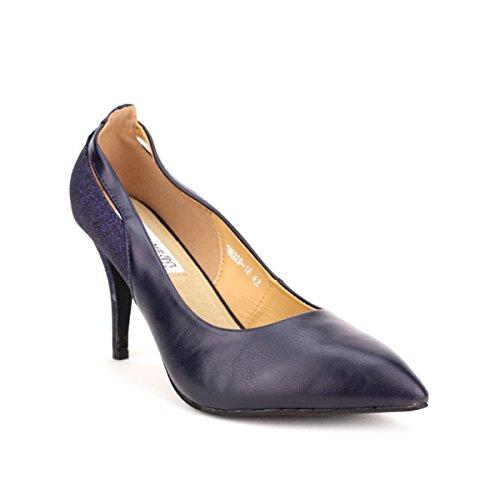 ELIKAO Bleu Femme Mode Escarpin Cendriyon Chaussures Blue TxA7aZqw