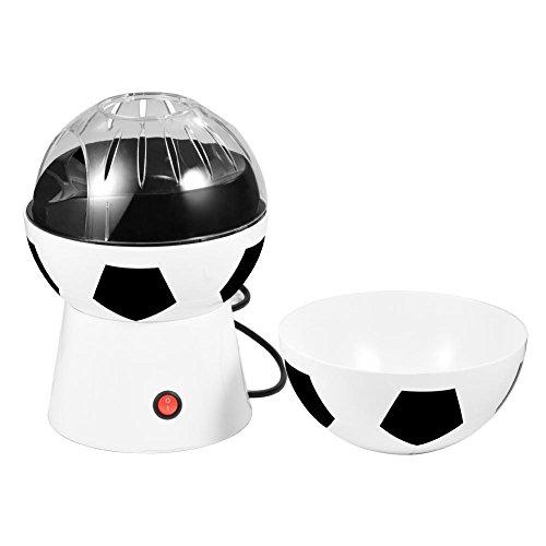 Cocoarm Popcorn Maschine Kreative Fußball Design Popcorn Maker Elektrische Haushalts Heißluft Popcornmaschine 27 x 17 cm ohne Fett Weiß
