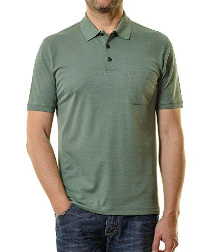 Ragman Herren Kurzarm Softknit Poloshirt Türkis/Grün