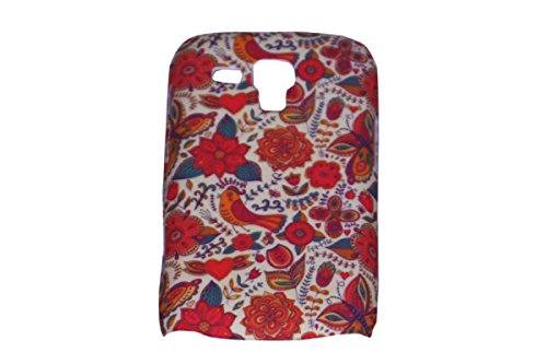 Floral Fashion Designer Print Snap-On Hard Slim Back Flexible Bumper Case Cover For Samsung Galaxy S 7562 Duos  available at amazon for Rs.99