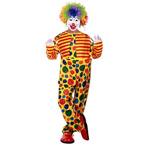 BESTOYARD Weihnachtsclown Kostüme Erwachsene Joker Cosplay Dot Clown Dress up Kleidung und Hose ohne Caps Freie (Weibliche Joker Kostüm Cosplay)