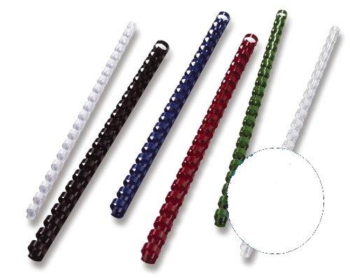 GBC BX211970 Plastik-Binderücken für Stanz-/Bindemaschine, A4, 21 Ringe, 19 mm, 100 Stück weiß