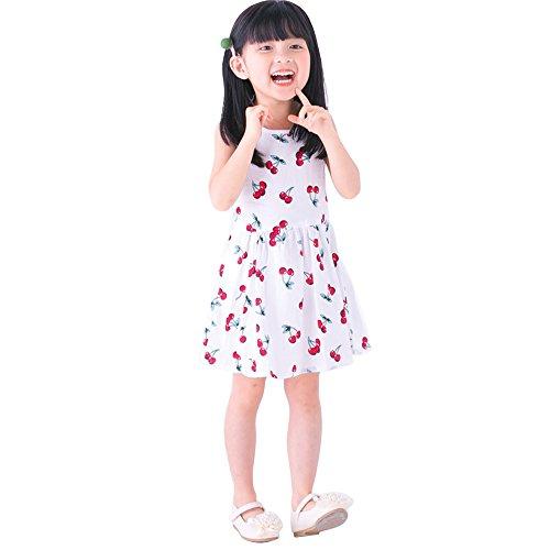 Ruimin Ärmellose Kleidung Prinzessin Kleid 1pcs Mädchen Sommerkleider Mädchen ärmelloses Muster Kleid