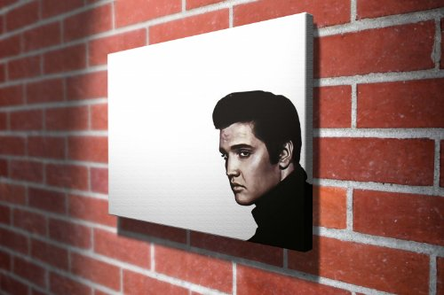 Elvis Presley Music Gallery Framed Canvas Art Picture Print