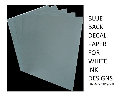 Blu della Waterslide Decal Paper-inkjet A4-cinque confezioni