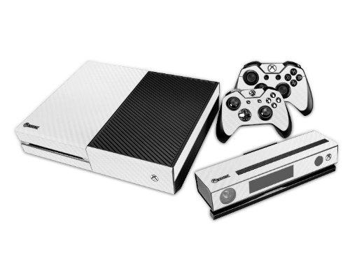 Xbox ONE Designfolie für Konsole + 2 Controller + Kamera Sticker Skin Set - weiß Wabenmuster