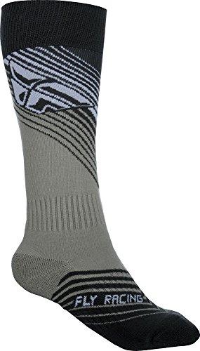 Fly Racing Motocross & Mountainbike Socken dünn MX schwarz-weiß MX & MTB Socks L/XL