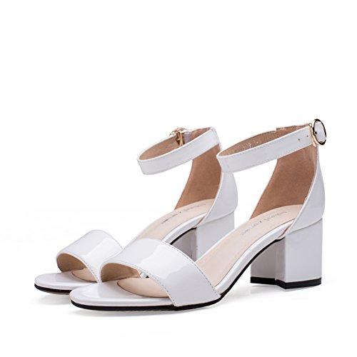 escarpins Sandales Chaussures,Version Coréenne Simple de Talons Hauts,Boucle de Talon avec des Chaussures A