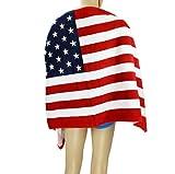 FakeFace Unisex Baumwolle Badetuch Strandtuch Duschtuch Handtuch Saugfähig für Haushalt Strand 140 x 70 CM (Amerikanische Flagge)