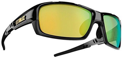 Bliz Tracker Außen Multi-sportarten Brillen 100% UVA/UVB-Schutz Sonnenbrille - Schwarz (Objektiv-braun/Gold Bunt), One Size (Rauch Objektiv Blau)