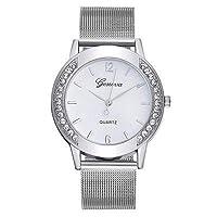 Renquen Zilveren Tone Mesh Armband Horloge Echte RVS Quartz Horloge Wijzerplaat Armband voor Vrouwen