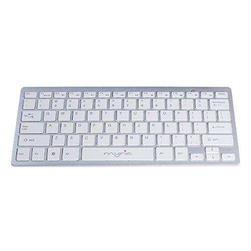 Myria TASTSTMY8060 Clavier sans Fil pour PC Blanc/Argent