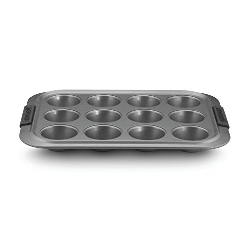 Anolon Advanced Nonstick Bakeware 12-Cup Muffin Pan, Gray with Silicone Grips Anolon Non Stick Pan
