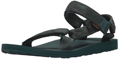 Teva m original universal, sandali a punta aperta uomo, verde (bugalu textured arctic forest), 47 eu
