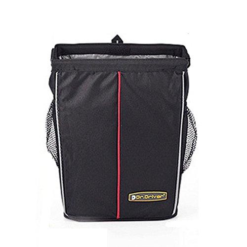 Preisvergleich Produktbild FakeFace Nylon Faltbare Wasserdichte Autorücksitztasche mit Klettverschluss Rücksitz Organizer Rückenlehnentasche Utensilientasche für Handy iPad 24 x 32 x 12 CM (Schwarz)