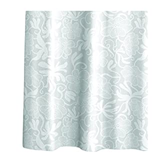 aquasanit a100400imp000 Art Flora Shower Curtain with Rings 180 x 200 cm