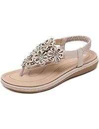 Amazon.es: cuñas mujer - Beige: Zapatos y complementos