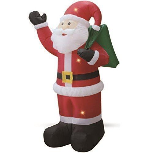 1,8 M Weihnachtsmann With Geschenktüte Sack Selbst Aufblasen Inflatable Elektrisch Aufblasen Giant Groß Außen Garten Weihnachten Figur Statue