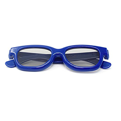 Mischfarben 3 Paare von Childrens Passive 3D Brille zwei blaue und eine grüne für Kinder universell für Passive TV Kino und Projektoren wie RealD Toshiba LG Panasonic und vieles mehr