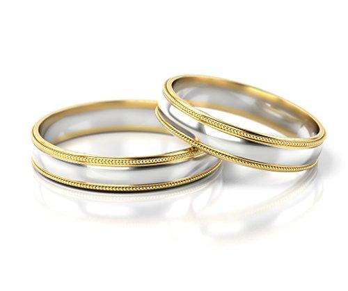 Fedi nuziali oro bianco / oro giallo 750_pd155_s-759