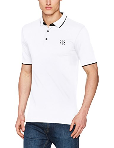 ONLY & SONS Herren T-Shirt Onsstan SS Fitted Polo Tee NOOS, Weiß (White), X-Small (Fitted Shirt White)