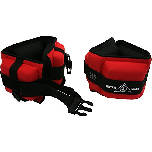 Professional Aqua Cuffs, Heavy Resistance - Red (Pair)