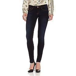 Jealous 21 Women's Skinny Jeans (PJEAL-SS17-FLJ-0000261, 28, BLUE)