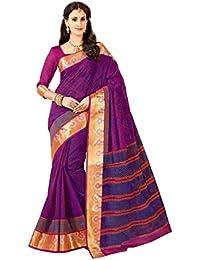 Aarti Apparels Women's Rich Designer Printed Gadwal Cotton Saree_CRYSTAL-6511