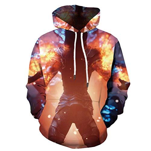 nner Charakter Druck Flamme Anime Gothic Sweatshirt Feuer 3D Gedruckt Langarm XXXL ()