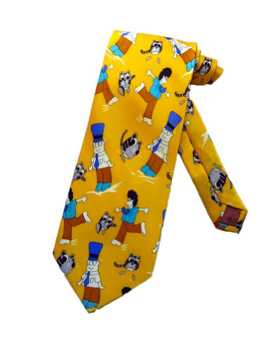 Preisvergleich Produktbild Laurant Benon Männer Cartoon Katze Krawatte - gelb - Einheitsgröße