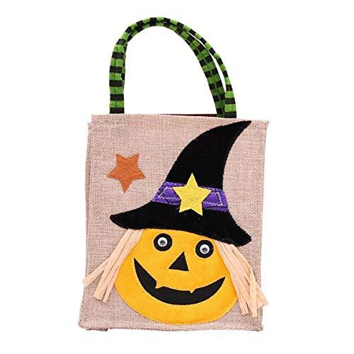 WSCOLL Hexengeist Kürbisform Geschenktüte Kind Halloween Party Cartoon Geschenke Taschen mit Griff Gastgeschenke Boxen Eventverpackung ZubehörKürbis (Monster High Cat Kostüm)