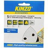 Kinzo 71732 5 Triangles Papier abrasif pour décapage peinture 90 x 90 x 90 mm G120