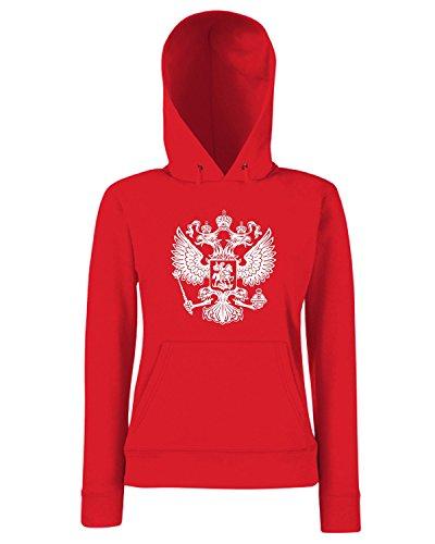 T-Shirtshock - Sweats a capuche Femme TM0129 Russia citta Rouge