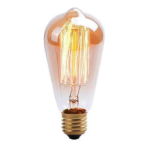 YUN Light Bulb@ Vintage Edison LED Glühbirne, E27 Antike 25W LED Filament Lampe Ersetzt 60W, Modell ST64, Ideal Für Nostalgie Und Retro Beleuchtung [Energieklasse A+]