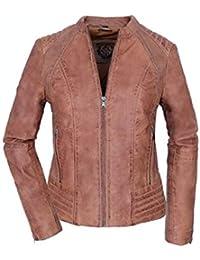 d569b879 Amazon.es: chaquetas cuero mujer marron - Chaquetas / Ropa de abrigo ...