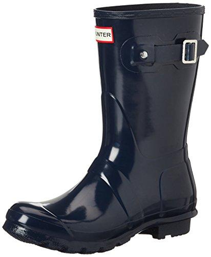 Hunter Original Short Gloss Wellington Boots, Womens Original Short Gloss - Navy femme Bleu Marine