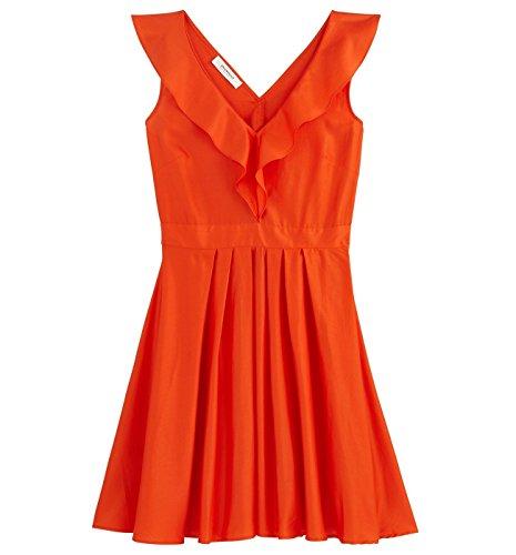 Promod Robe volantée Femme Orange