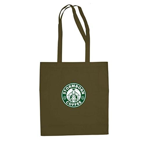 Starbucks Kostüm Tasse - Planet Nerd GoT: Stormborn Coffee - Stofftasche/Beutel, Farbe: oliv