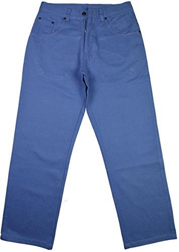 Regal Wear Herren Baggy Jeans, Loose-Fit Zip Fly Blau - Himmelblau