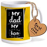 TIED RIBBONS Fathers Day Special Gifts For Dad | Fathers Day Gifts | Fathers Day Gifts From Daughter | Printed Coffee Mug With Wooden Tag