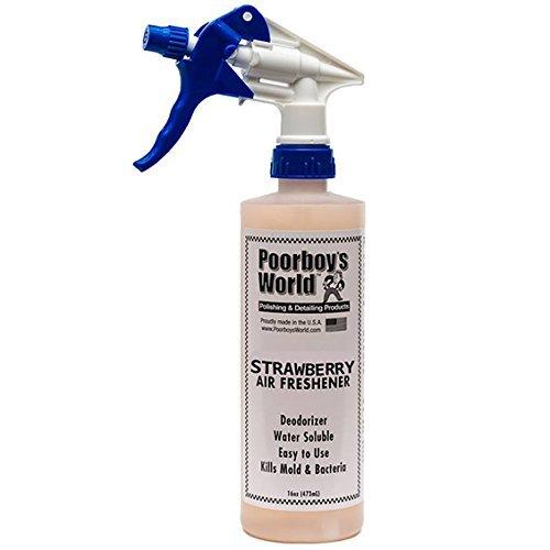 poorboys Spray désodorisant Fraise Moule - Tue les bactéries & -16oz/473 ml