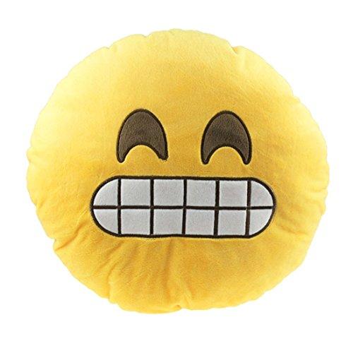 Ukamshop (TM) Car Home Office Zubehör Emoji Smiley Naughty Kissen, Solarbetrieben, Spielzeug, Geschenkidee), gelb, B (Home-office-single)
