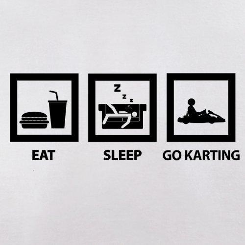 Eat Sleep Go Karting - Herren T-Shirt - 13 Farben Weiß